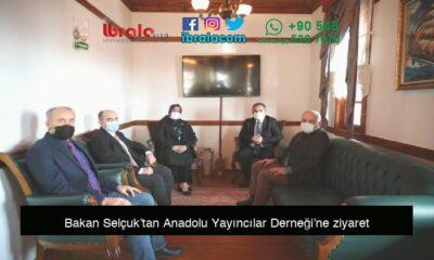Bakan Selçuk'tan Anadolu Yayıncılar Derneği'ne ziyaret