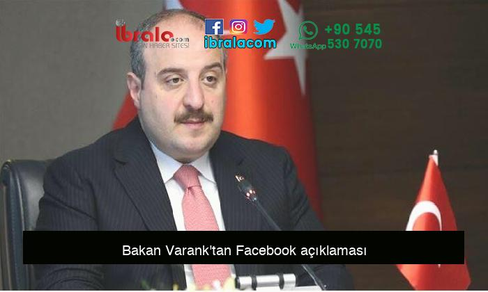 Bakan Varank'tan Facebook açıklaması