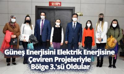 Güneş Enerjisini Elektrik Enerjisine Çeviren Projeleriyle Bölge 3.'sü Oldular