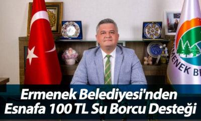 Ermenek Belediyesi'nden Esnafa 100 TL Su Borcu Desteği
