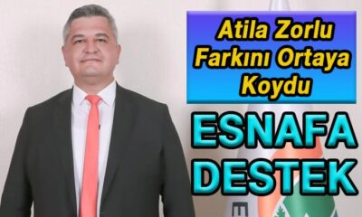 Atila Zorlu farkını ortaya koydu Esnafa destek