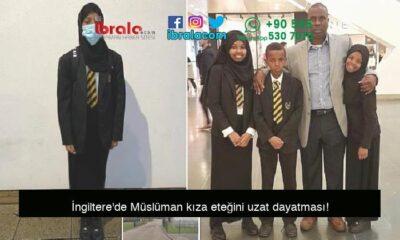 İngiltere'de Müslüman kıza eteğini uzat dayatması!