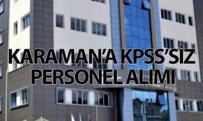 Karaman'a KPSS'siz Personel Alımı