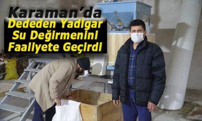 Karaman'da atadan kalma su değirmenini faaliyete geçirdi