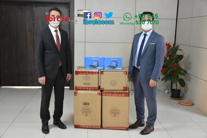Karaman'da öğrencilere tablet desteği