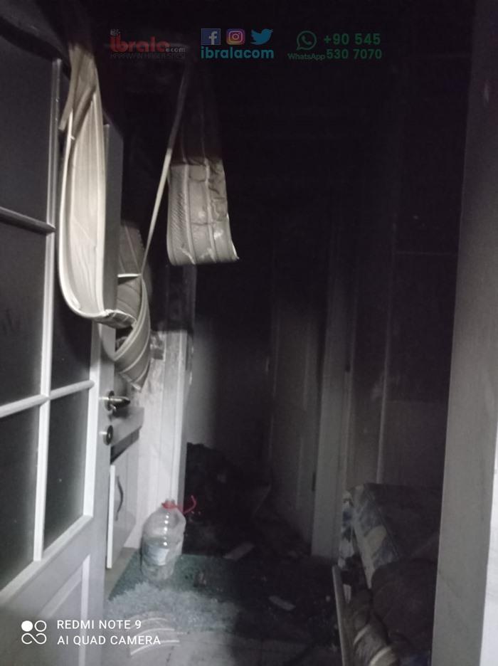 Karaman'da çıkan yangın korkuttu