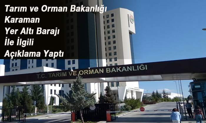 Bakanlıktan Karaman ile ilgili açıklama