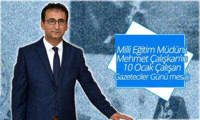Karaman Milli Eğitim Müdürü Çalışkan'dan 10 Ocak Mesajı