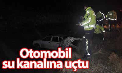 Karaman'da Otomobil Su Kanalına Uçtu