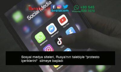 """Sosyal medya siteleri, Rusya'nın talebiyle """"protesto içeriklerini""""  silmeye başladı"""