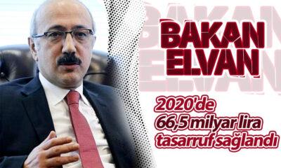 Bakan Elvan: 2020'de 66,5 Milyar Lira Tasarruf Sağlandı