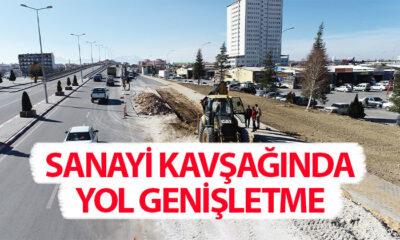 Karaman'da Sanayi Kavşağında Yol Genişletme Çalışması
