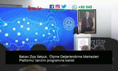 Bakan Ziya Selçuk, 'Ölçme Değerlendirme Merkezleri Platformu' tanıtım programına katıldı