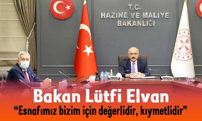 Bakan Elvan esnaf temsilcileri ile buluştu