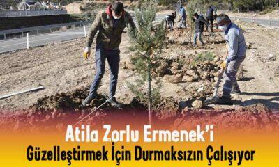 Atila Zorlu Ermenek'i güzelleştirmeye devam ediyor