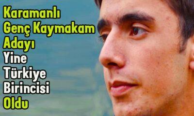 Karamanlı genç Kaymakam adayı yine birinci oldu