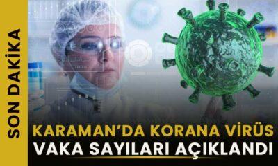 Karaman'da korona vaka sayıları açıklandı