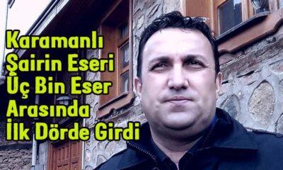 Karamanlı şairin başarıları devam ediyor