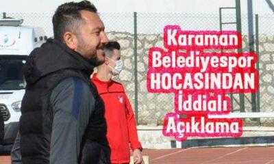 Karaman Belediyespor hocasından iddialı açıklama