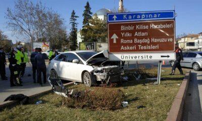 İki Aracın Karıştığı Kazada 6 Yaralı !