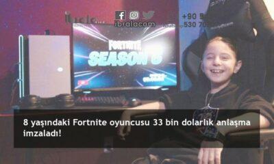 8 yaşındaki Fortnite oyuncusu 33 bin dolarlık anlaşma imzaladı!