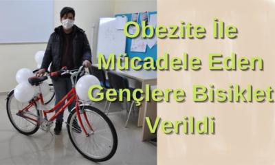 Obezite İle Mücadele Eden Gençlere Bisiklet Verildi