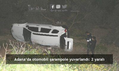 Adana'da otomobil şarampole yuvarlandı: 2 yaralı