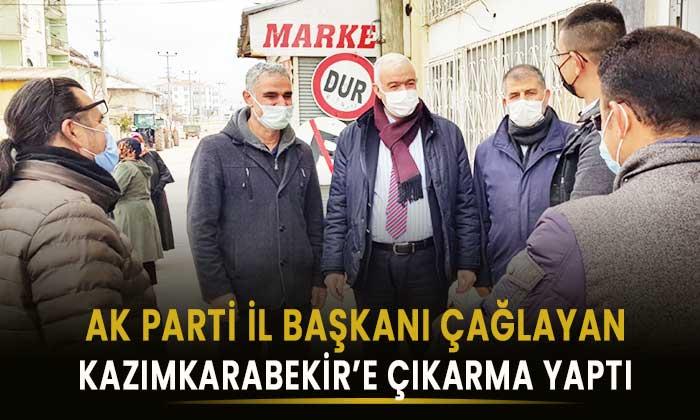Karaman AK Parti İl Başkanı Kazımkarabekir'e çıkarma yaptı
