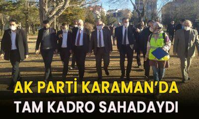 Karaman'da AK Parti tam kadro sahadaydı