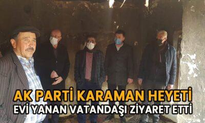 AK Parti Heyeti evi yanan vatandaşı ziyaret etti