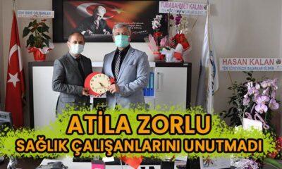 Atila Zorlu sağlık çalışanlarını unutmadı