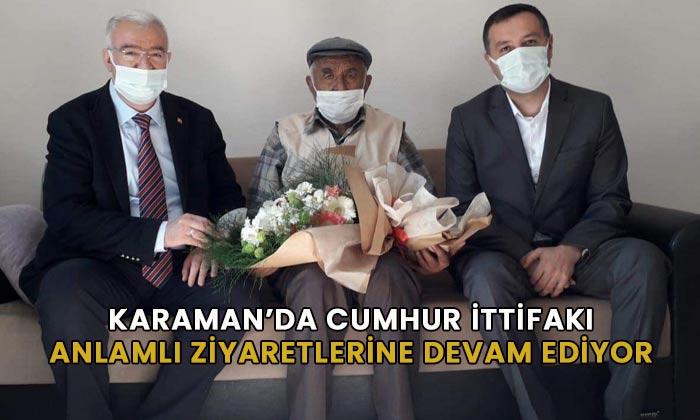 Karaman'da Cumhur İttifakı Şehit ailesini ziyaret etti