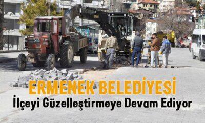 Ermenek Belediyesi ilçeyi güzelleştiriyor