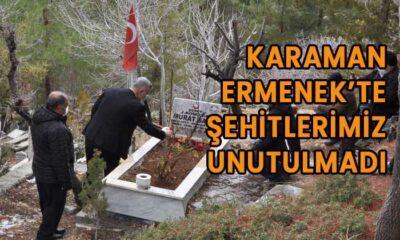 Karaman Ermenek'te şehitlerimiz unutulmadı