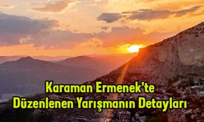 Ermenek'te düzenlenen yarışmanın detayları