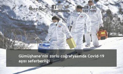 Gümüşhane'nin zorlu coğrafyasında Covid-19 aşısı seferberliği