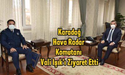 Karadağ Hava Radar Komutanı Karaman Valisi'ni ziyaret etti