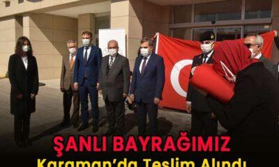 Şanlı Bayrağımız Karaman'da teslim alındı