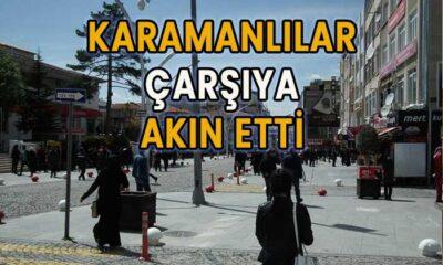 Karamanlılar çarşıya akın etti