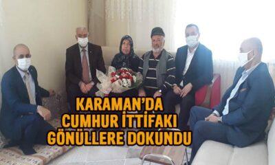 Karaman'da Cumhur İttifakı gönüllere dokundu