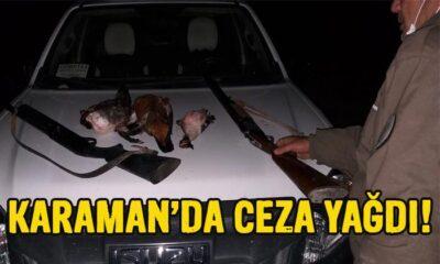 Karaman'da ceza yağdı