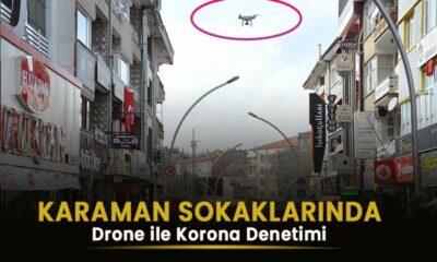 Karaman'da drone ile korona virüs denetimi