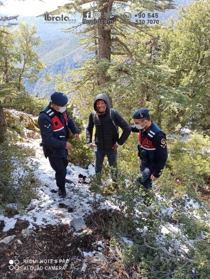 Karaman'da kaybolan genç sağ salim bulundu