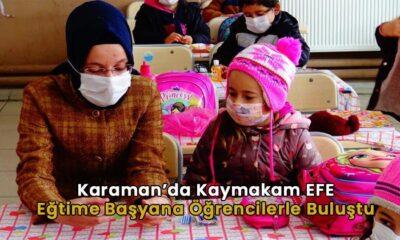 Karaman'da Kaymakam EFE öğrencilerle buluştu