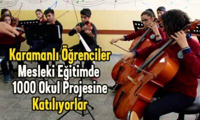 Karamanlı öğrenciler Mesleki Eğitimde 1000 Okul Projesine katılıyor