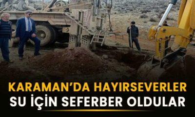 Karaman'da hayırseverler su için seferber oldular