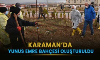 Karaman'da Yunus Emre Bahçesi oluşturuldu