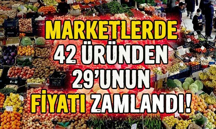Marketlerde hangi ürünün fiyatı ne kadar arttı?