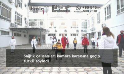 Sağlık çalışanları kamera karşısına geçip türkü söyledi