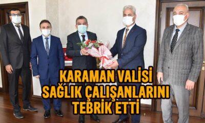 Karaman Valisi sağlık çalışmalarını tebrik etti